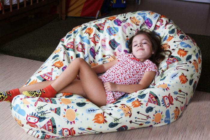 Кресло-мешок лучше поставить в детской комнате. /Фото: sorokainfo.com