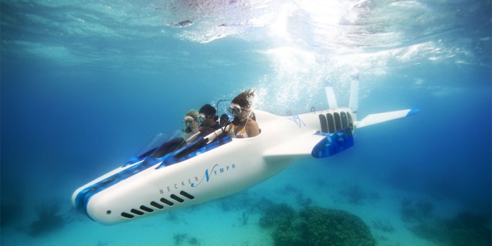 Necker Nymph имеет открытый кокпит и для подводных прогулок нужно надевать акваланг. /Фото: prestigiousstarawards.com