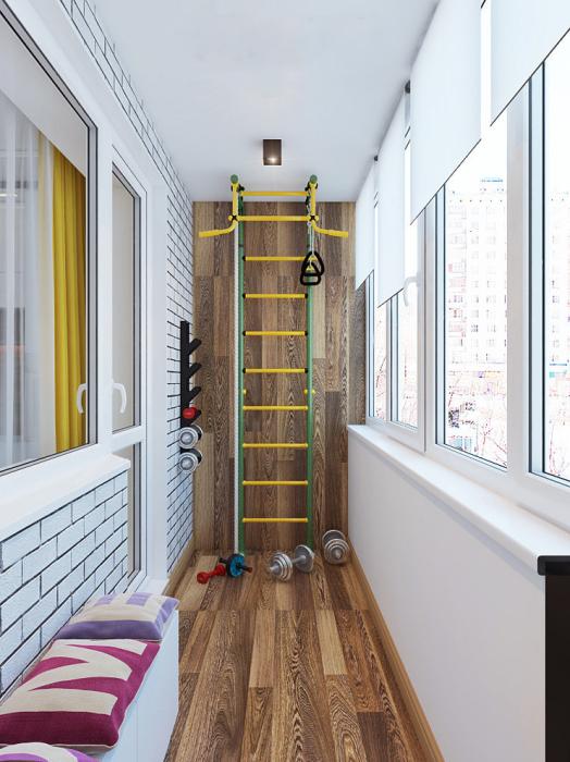 С таким дополнением в квартире следить за своей фигурой и здоровьем станет гораздо проще. /Фото: postroika.biz