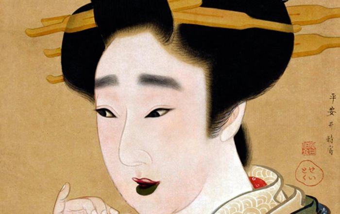 В Японии считали привлекательными черные зубы. /Фото: ancient-origins.net