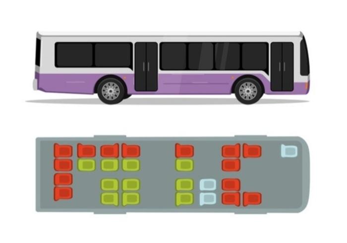 Безопасные места в автобусе. /Фото: i4.tabor.ru