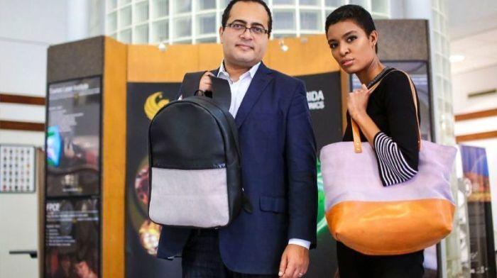 Эти сумки умеют менять цвет по сигналу со смартфона или по нажатию кнопки на изделии. /Фото: orlandosentinel.com