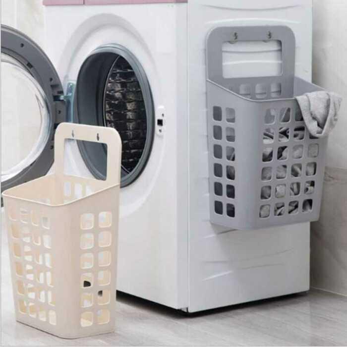 К стиральной машинке тоже можно прицепить корзинку. /Фото: ae01.alicdn.com