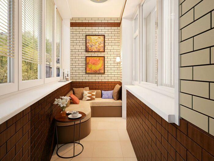Уютный диванчик располагает к уединенному отдыху. /Фото: i.pinimg.com
