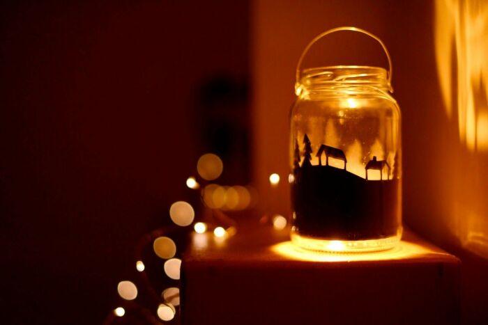 Такой рисунок станет красивым украшением зимних вечеров. /Фото: i.pinimg.com