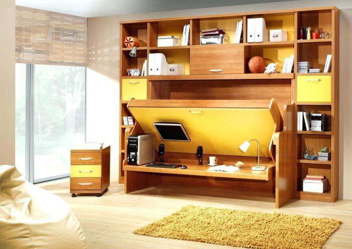Кровать-рабочий стол — современное решение для кабинета. /Фото: tk-konstruktor.ru.opt-images.1c-bitrix-cdn.ru