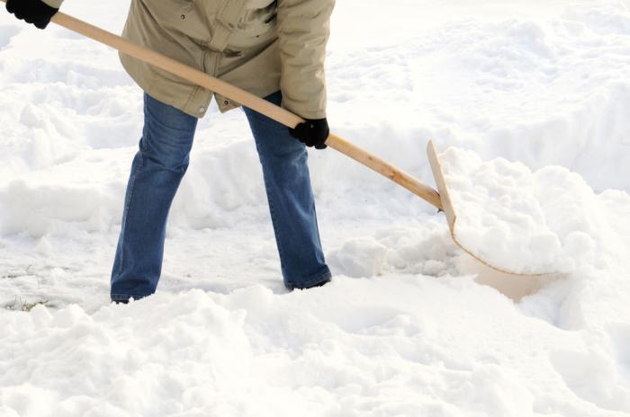 Натрите лопату воском, и работать будет проще. /Фото: buccihomesblog.com