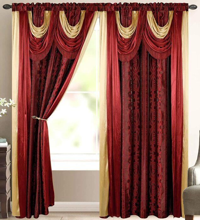 Изобилие декора штор «перегрузит» комнату с низкими потолками. /Фото: images-na.ssl-images-amazon.com