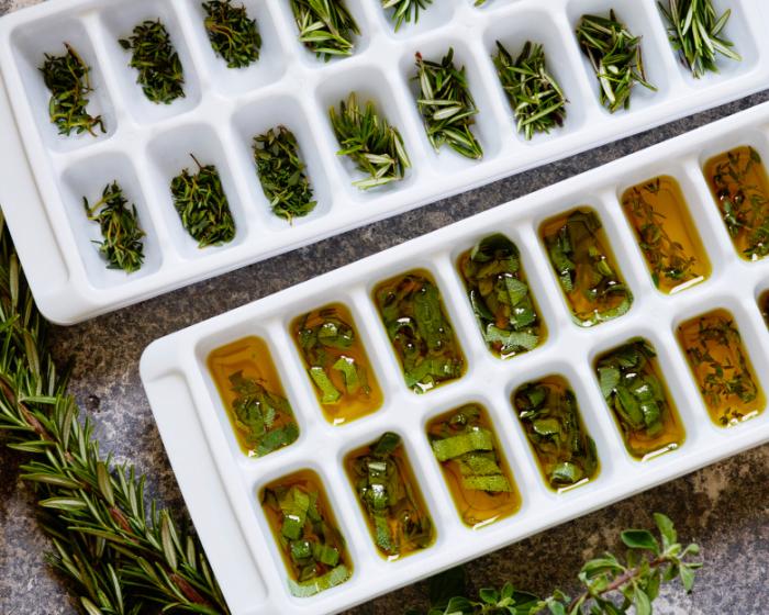 Замороженные кубики зелени – прекрасное дополнение к блюдам. /Фото: thepioneerwoman.com