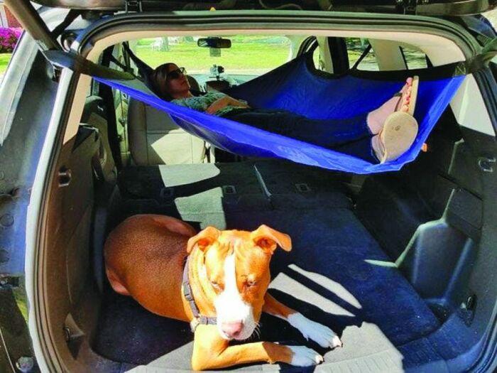 Гамак образует дополнительное место для отдыха. /Фото: fotos.perfil.com