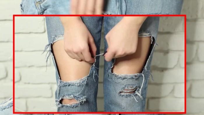 Стильные джинсы практически вечные, их можно носить из года в год, если не возникнет проблемка. /Фото: i.ytimg.com