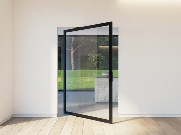 Оригинальное и очень стильное решение для межкомнатных и входных дверей. /Фото: img.edilportale.com