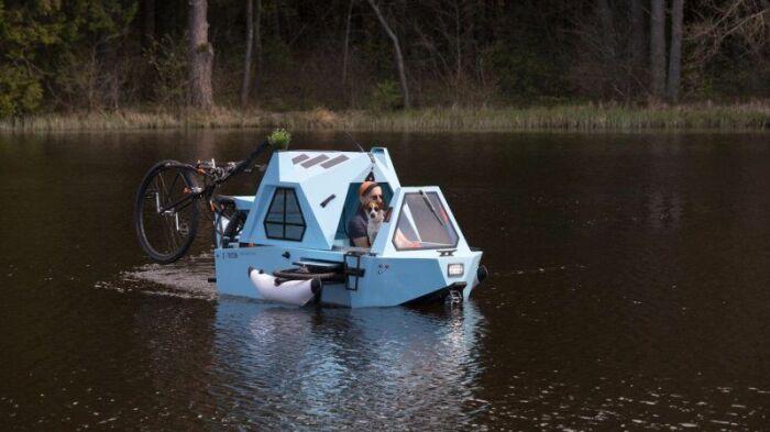 Невероятное транспортное средство для любителей разнообразных путешествий. /Фото: s.yimg.com