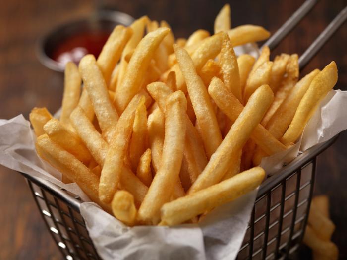 Картофель фри. /Фото: gesundheitstrends.com