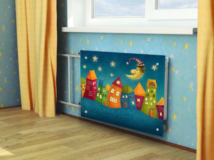 С такой картиной радиатор становится настоящим произведением искусства. /Фото: static.tildacdn.com