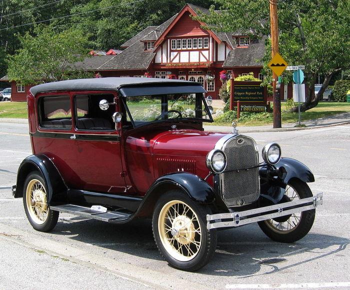 Ford Model A Tudor Sedan, 1928 год. /Фото: upload.wikimedia.org