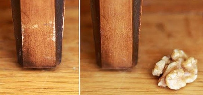 Царапины на мебели волшебным образом исчезают благодаря ореху. /Фото: img.wonderhowto.com