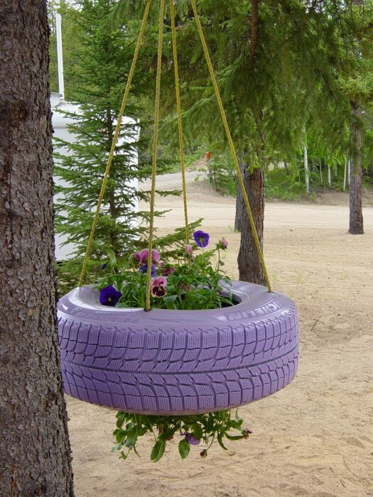Подвесная клумба украсит любой сад или террасу. /Фото: 4.bp.blogspot.com