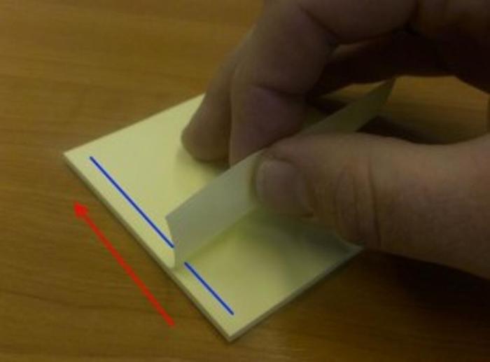 Правильное направление для отрывания стикера. /Фото: net.hr