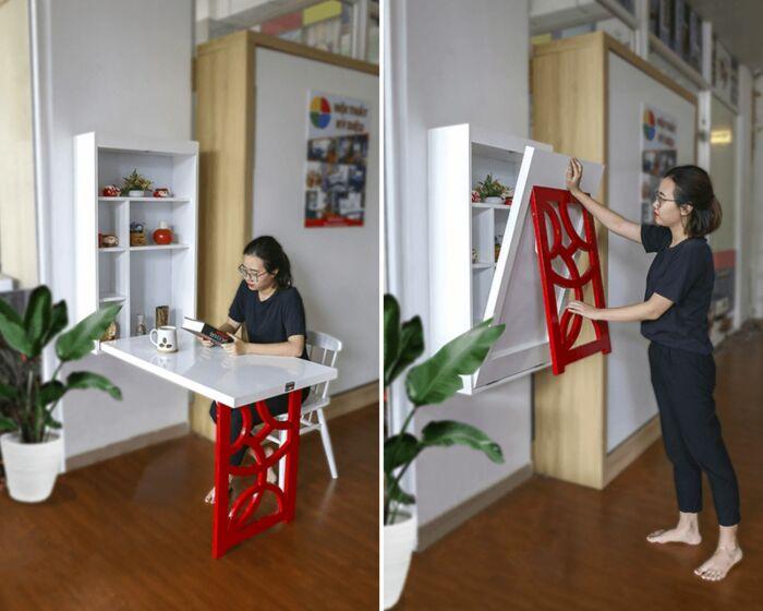 3 в 1: и шкафчик, и стол, и декоративный элемент.