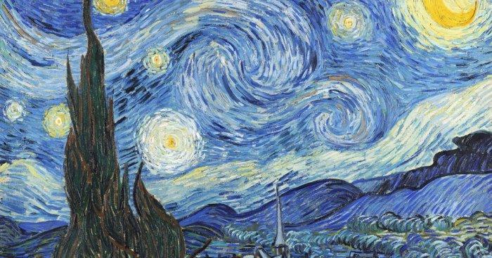 «Звездная ночь» признана одной из самых известных картин западной культуры. /Фото: mywowo.net