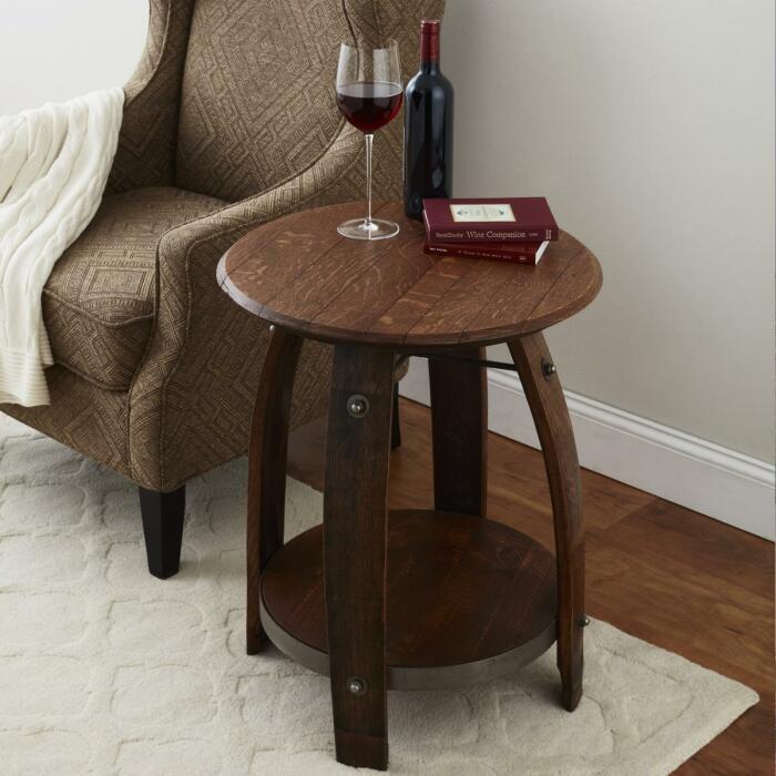 Этот элегантный столик сделан из бочки. /Фото: i8.amplience.net
