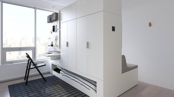 Роботизированная мебель — новая продвинутая современность дизайна помещений. /Фото: imgs.6sqft.com