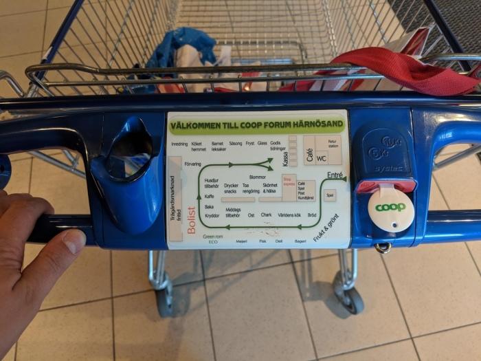 С цветовым разделением продуктовых корзин не придется отбиваться от назойливого внимания продавцов. /Фото: pbs.twimg.com