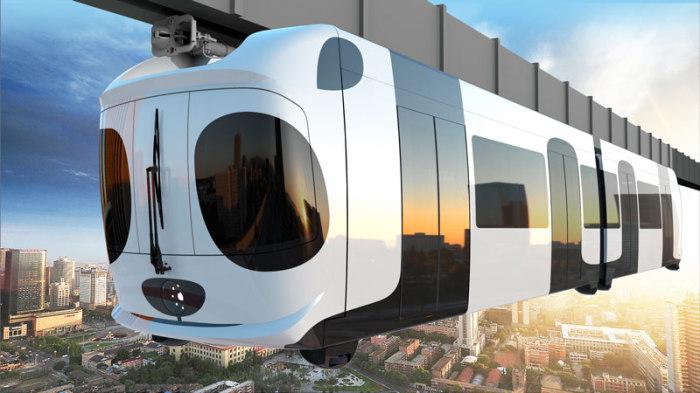Китай стал третьей страной в мире, освоившей технологию монорельсовых поездов. /Фото: lksdiaradesign.com
