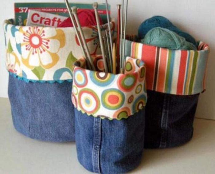 Джинсовые «ведерки», которые можно наполнить всякой полезной всячиной. /Фото: image.winudf.com