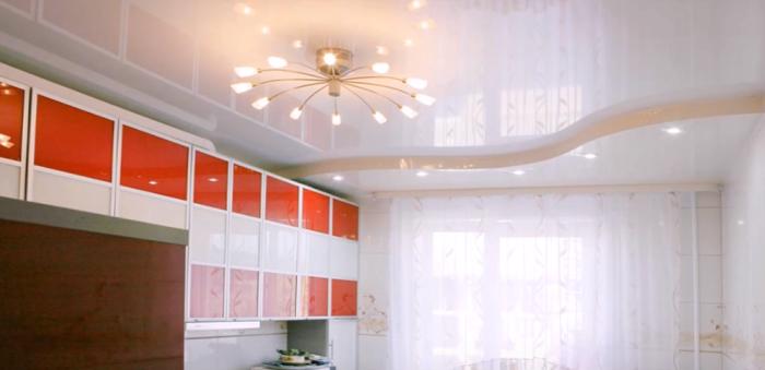 Натяжной потолок — стильное и современное решение.