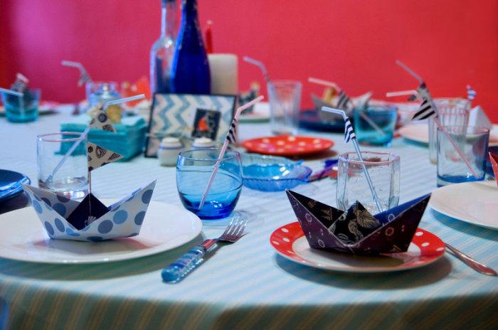 Обед в морском стиле – как будто вся семья на курорте. /Фото: avatars.mds.yandex.net