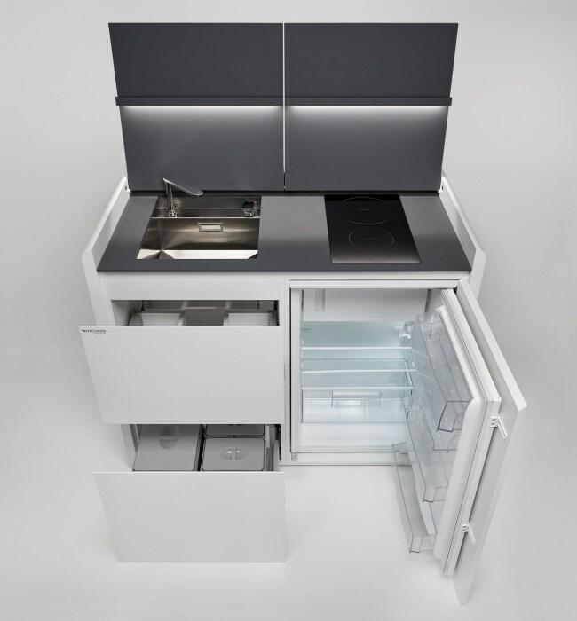 В компактной кухне есть все необходимое. /Фото: img.edilportale.com