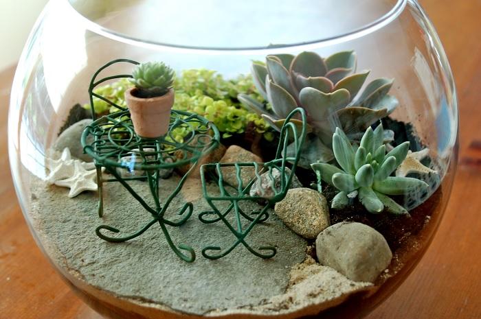 Сад с настоящей композицией. /Фото: naturework.com