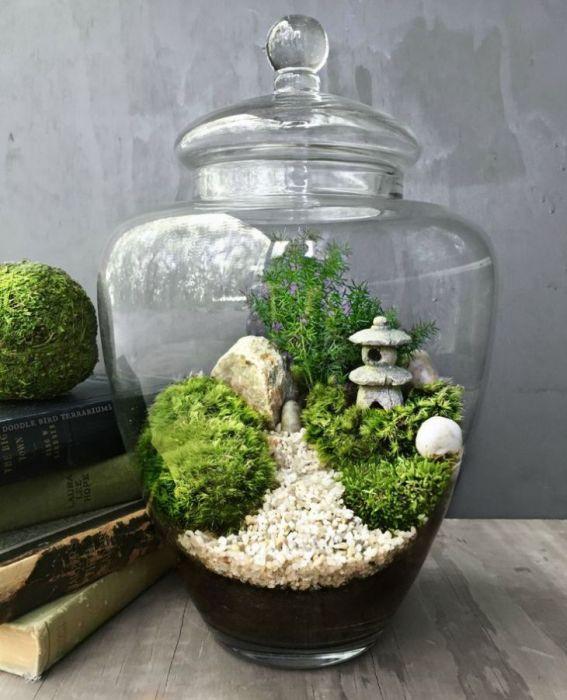 Мини-сад способствует умиротворению. /Фото: i.pinimg.com