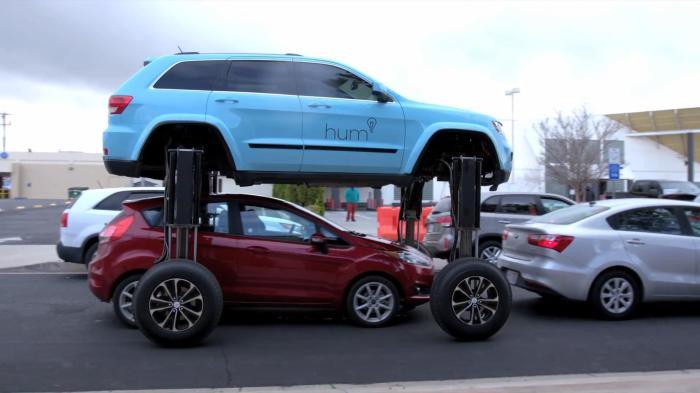 Hum Rider с поднимающимся кузовом – забавное рекламное решение. /Фото: thesun.co.uk