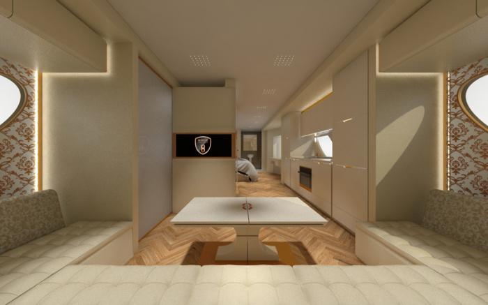 Интерьер сочетает элегантность и роскошь. /Фото: marchi-mobile.com
