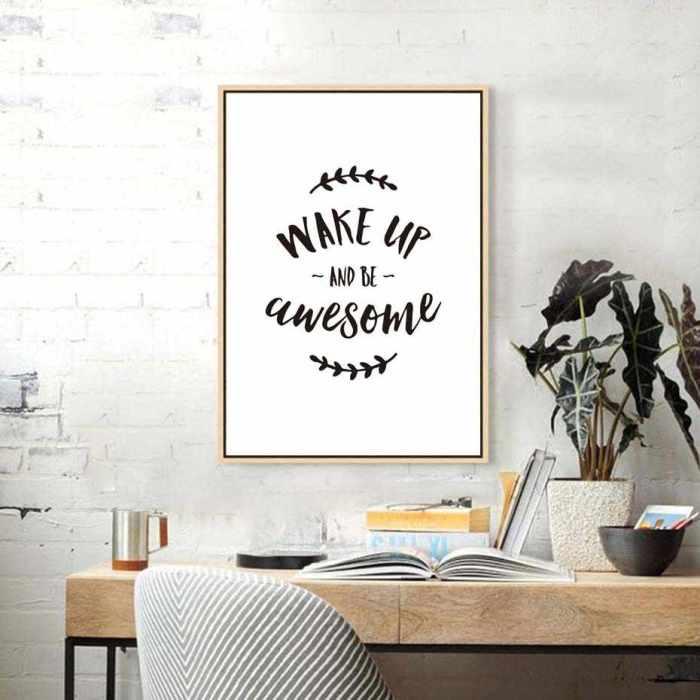 Постеры с мотивирующими фразами дадут важный толчок в достижении любых целей. /Фото: ae01.alicdn.com