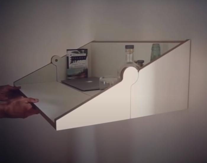 Необычное решение для комнат с ограниченным свободным пространством. /Фото: youtube.com