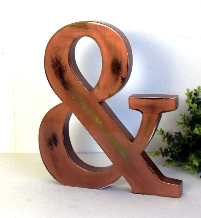 Знак «&» широко используется в дизайне. /Фото: mylittledecor.fr