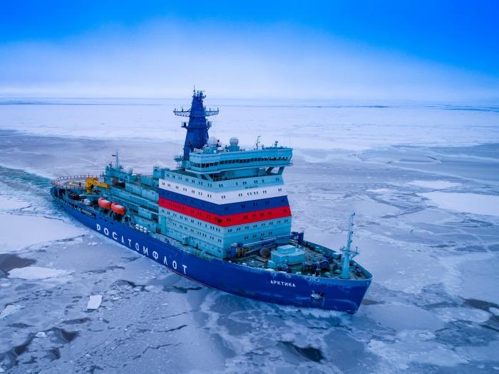 Атомный ледокол «Арктика». /Фото: cheaz.ru
