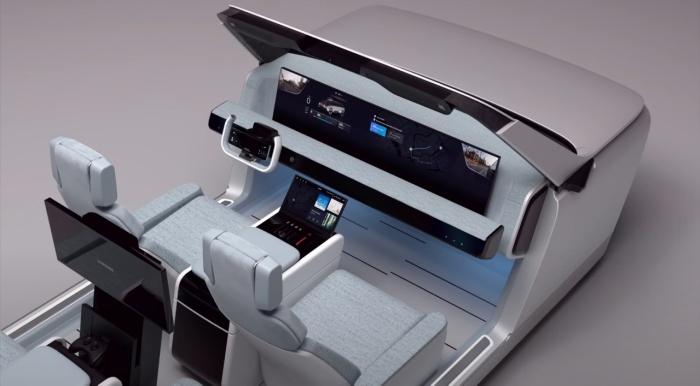 По версии Samsung машины будущего станут развлекательным центром на колесах. /Фото: youtube.com
