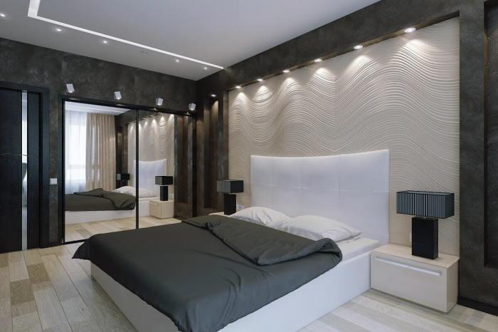 Спальня в стиле хай-тек — для поклонников неординарного дизайна. /Фото: design-homes.ru