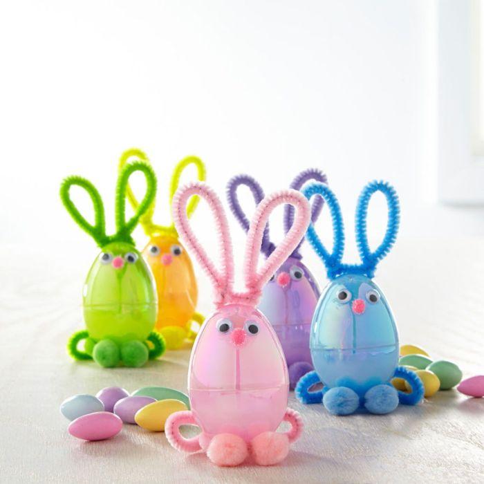 Стильные зайцы сделают праздник более красочным. /Фото: i.pinimg.com