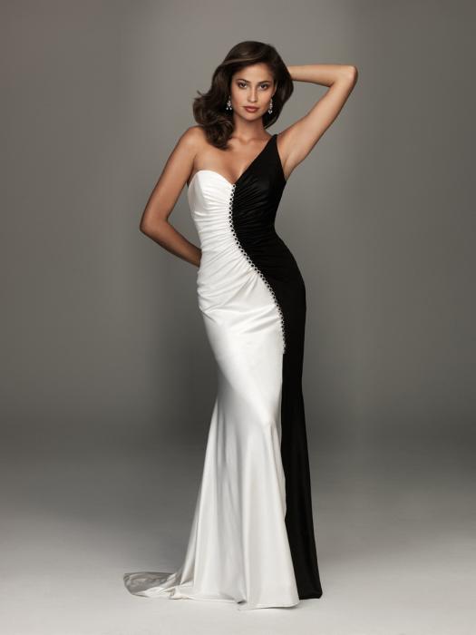 Платья инь и янь — для уверенных и смелых женщин. /Фото: dressedupgirl.com
