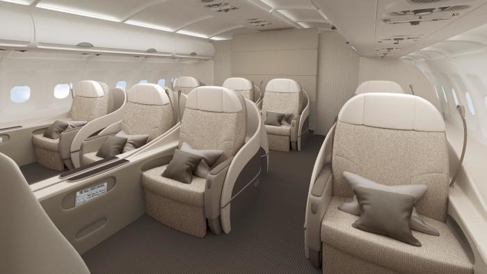Интерьер Airbus A340 для VIP-пассажиров. /Фото: igraircraftsalescorp.com