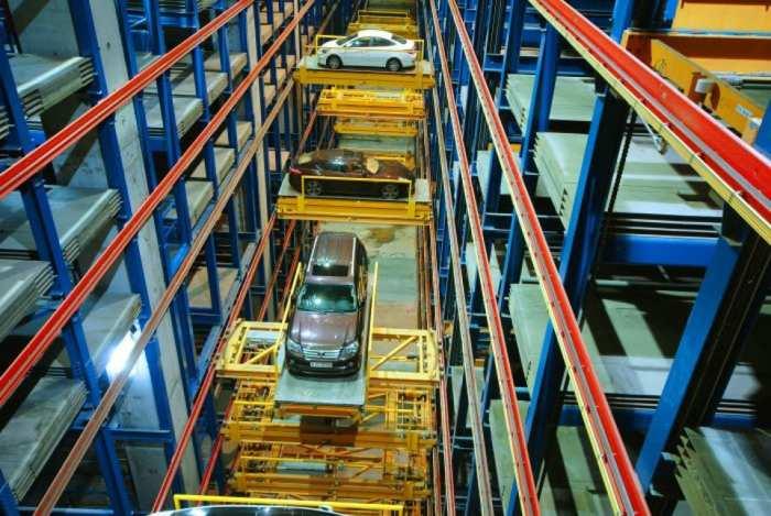 Паркинг работает по принципу карусели. /Фото: roboticparking.com