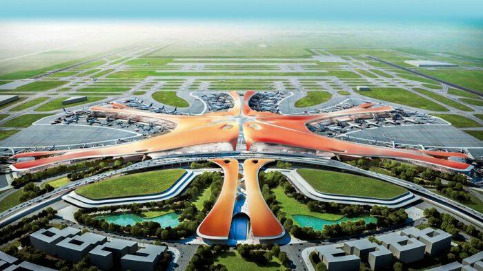 Очертаниями аэропорт Дасин напоминает морскую звезду. /Фото: cdn.businesstraveller.com