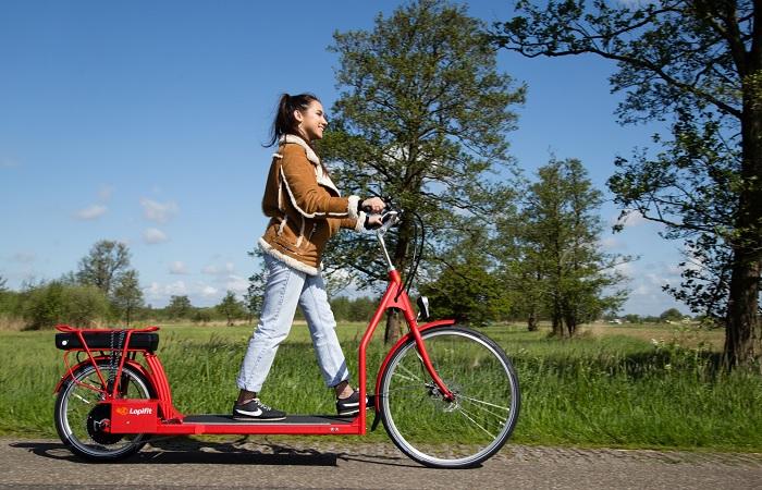 Необычная модель велосипеда, которая сразу привлекает внимание.