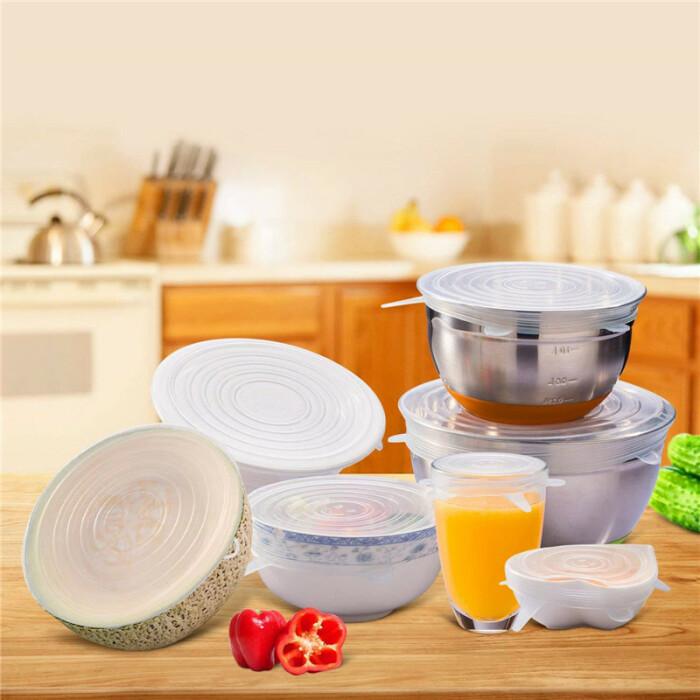 Силиконовые крышки – очень нужная вещь на любой кухне. /Фото: ae01.alicdn.com